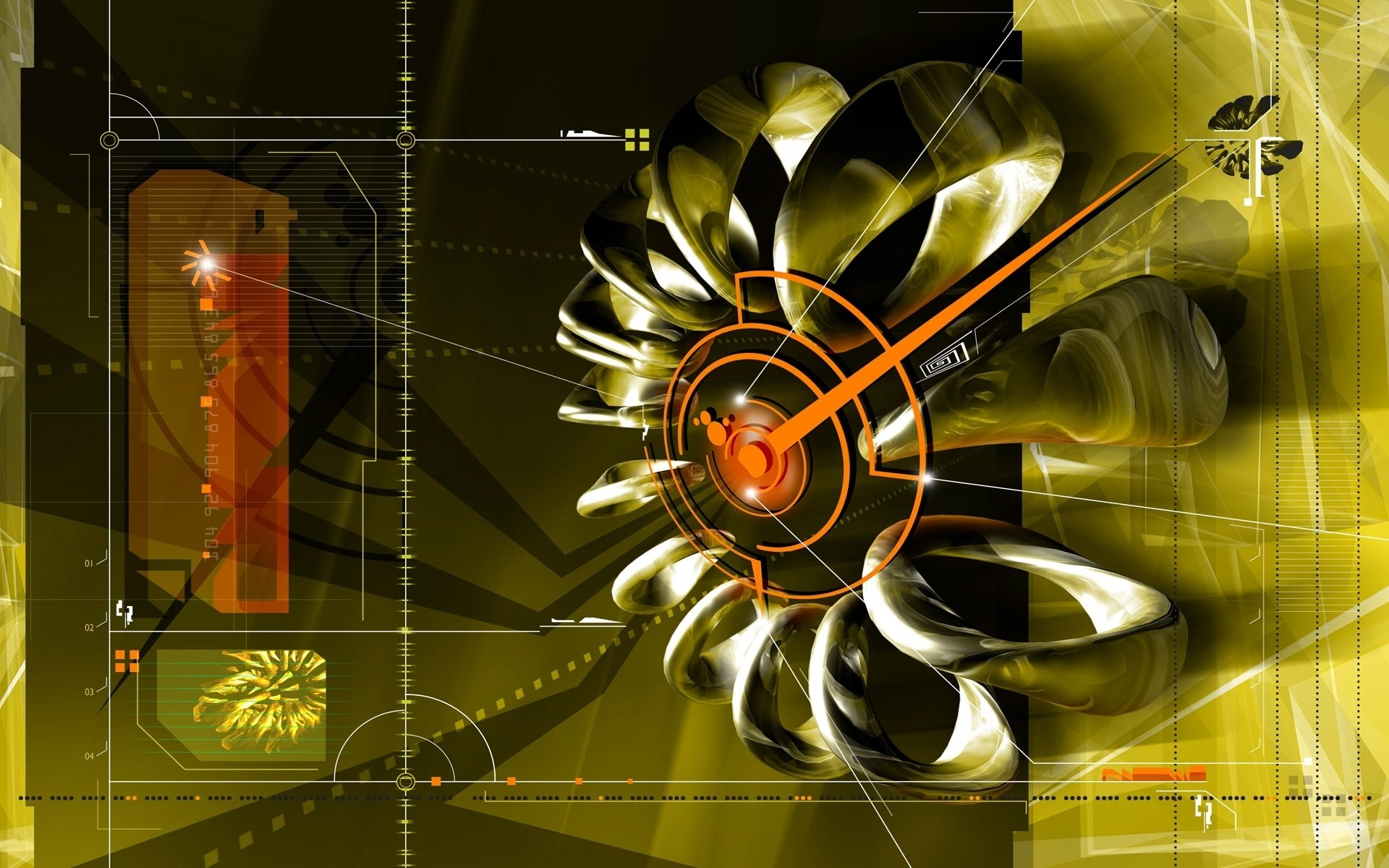 abstract illustration design desktop technology light wing digital art
