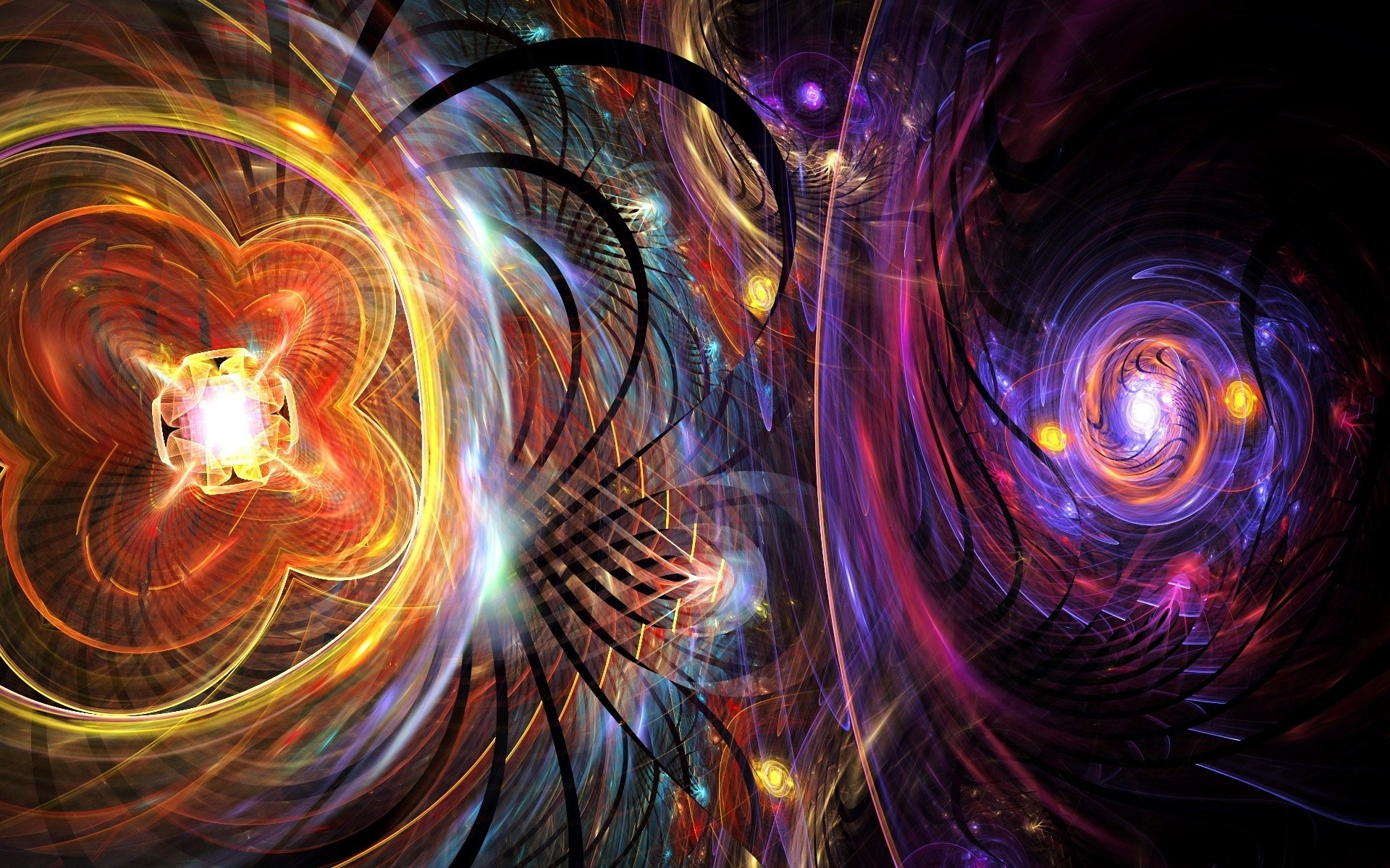 abstract light fractal design wallpaper background motion pattern fantasy energy texture vortex bright geometry desktop dynamic graphic line blur luminescence