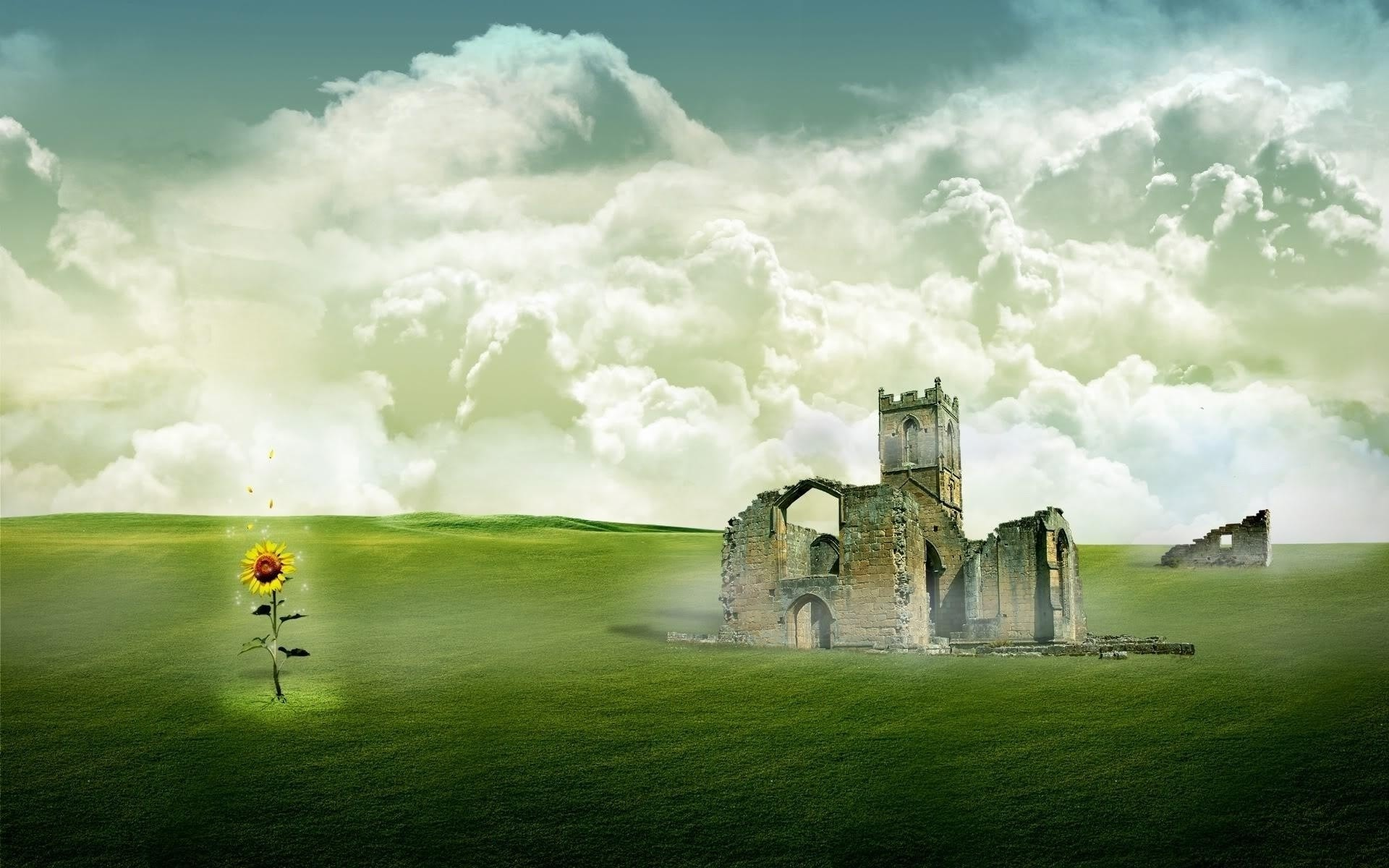 fantasy grass sky landscape cloud countryside outdoors field nature