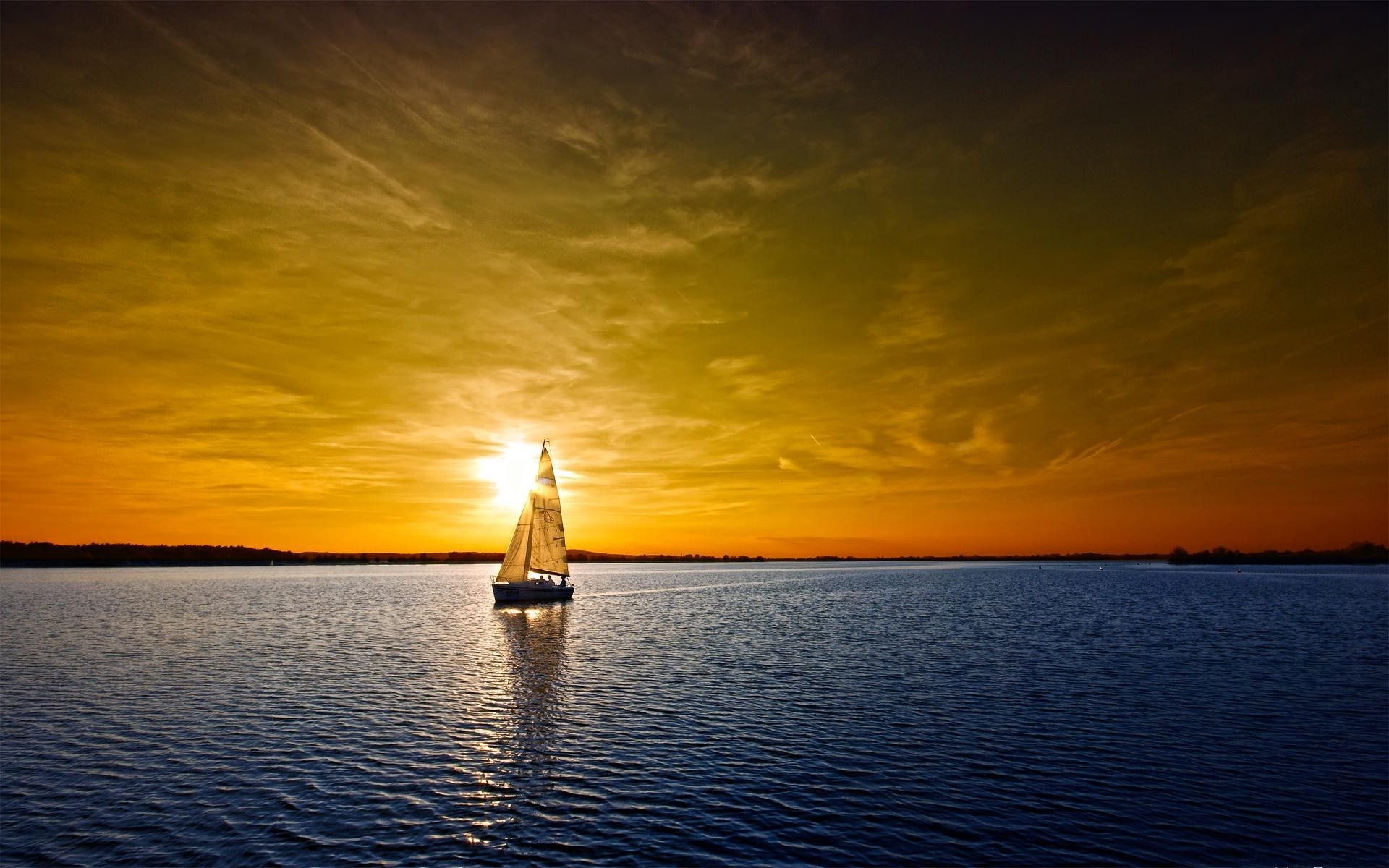 landscapes sunset water dawn dusk evening sun reflection sky sea ocean lake