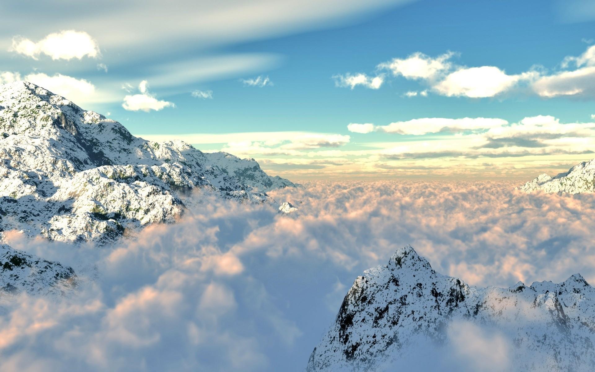 горы скалы небо облака высота природа  № 3352084 без смс