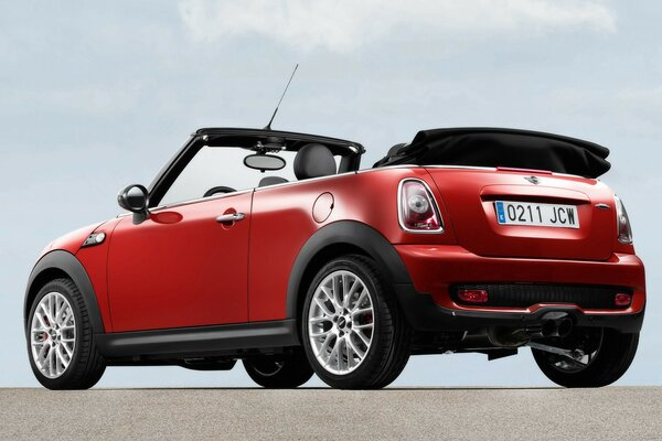 Mini Cooper Convertible Rear And Side