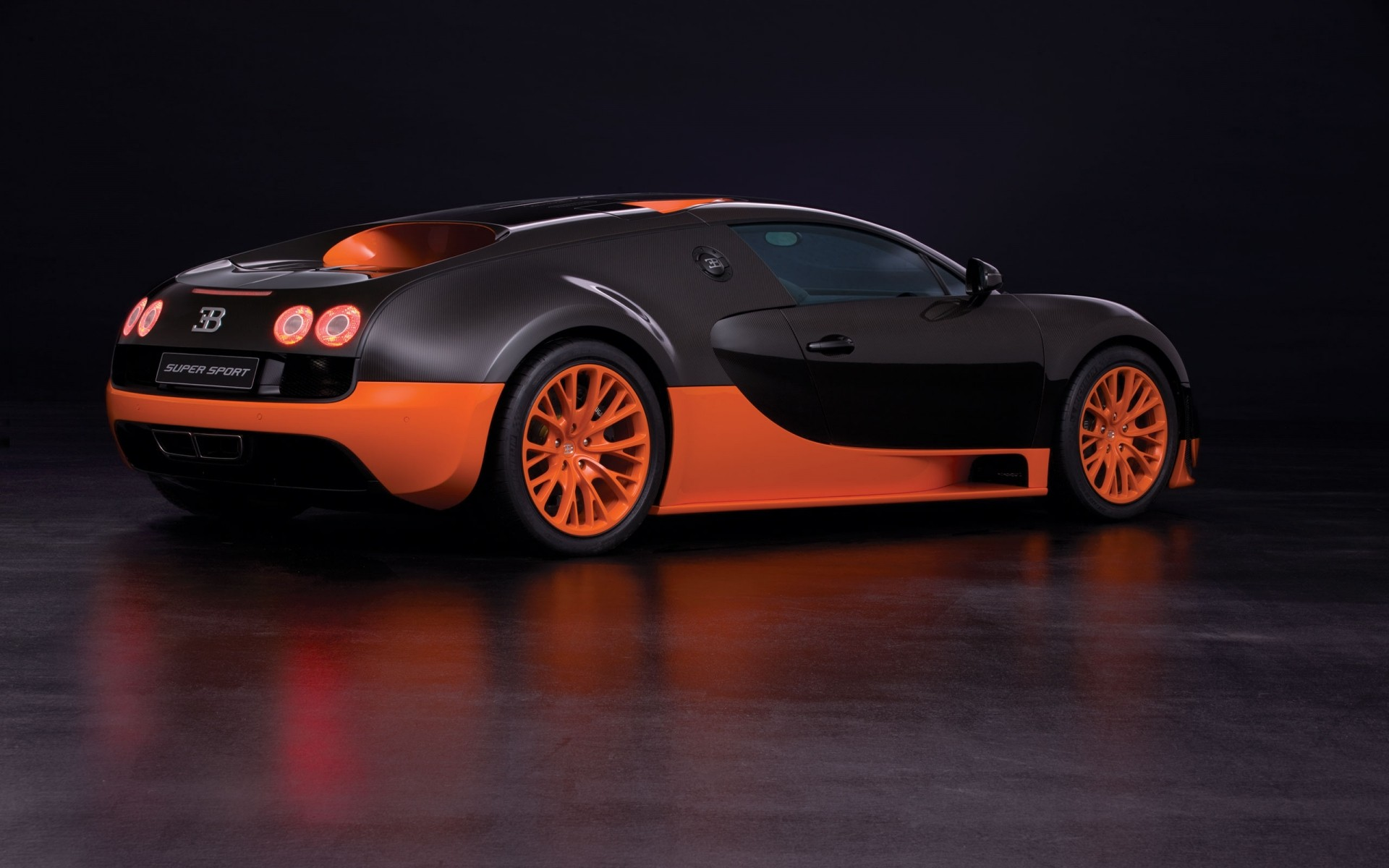 Orange Bugatti Veyron Super Sport Android Wallpapers