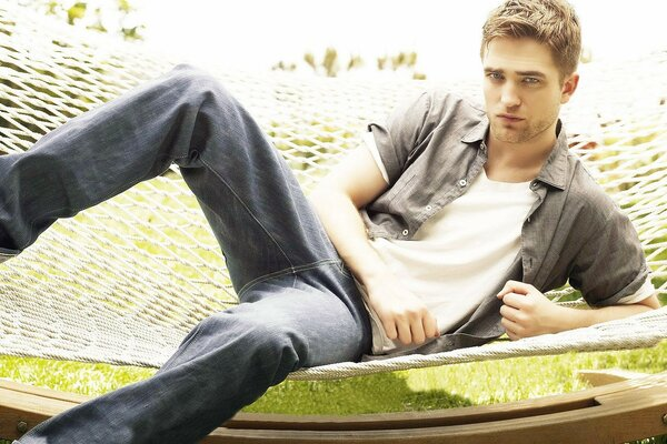 Robert Pattinson Relaxing