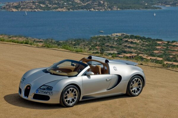 Bugatti Veyron 16.4 Grand Sport 2010 in Sardinia - Front And Side Panorama