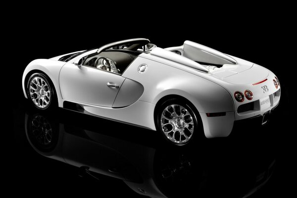 Bugatti Veyron 16.4 Grand Sport Production 2009 - Rear And Side Topless