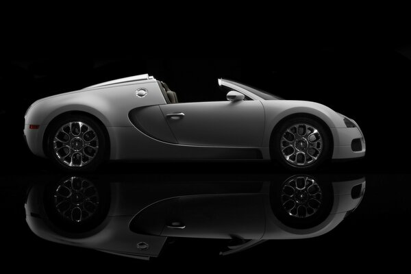 Bugatti Veyron 16.4 Grand Sport Production 2009 Version - Side Topless