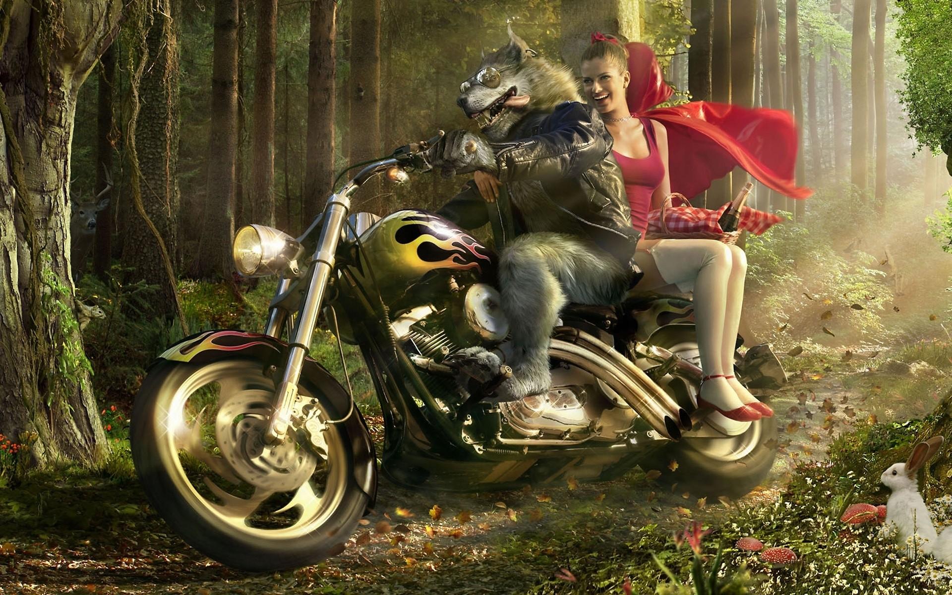 мотоцикл снег красный  № 778047  скачать