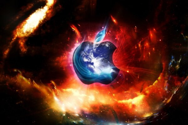 Apple in space