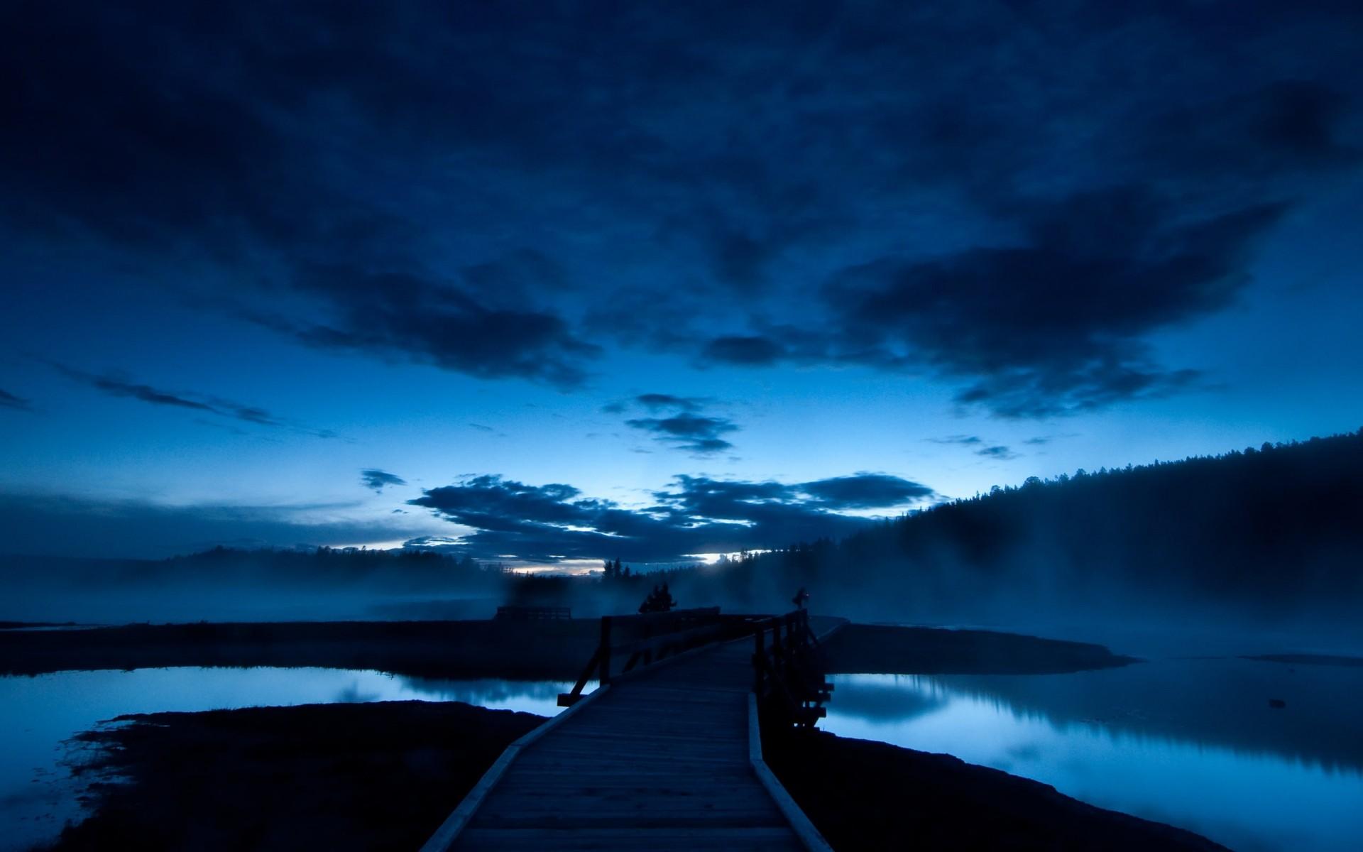 мост закат озеро небо загрузить