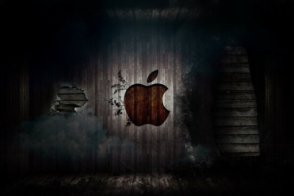 Apple in a room