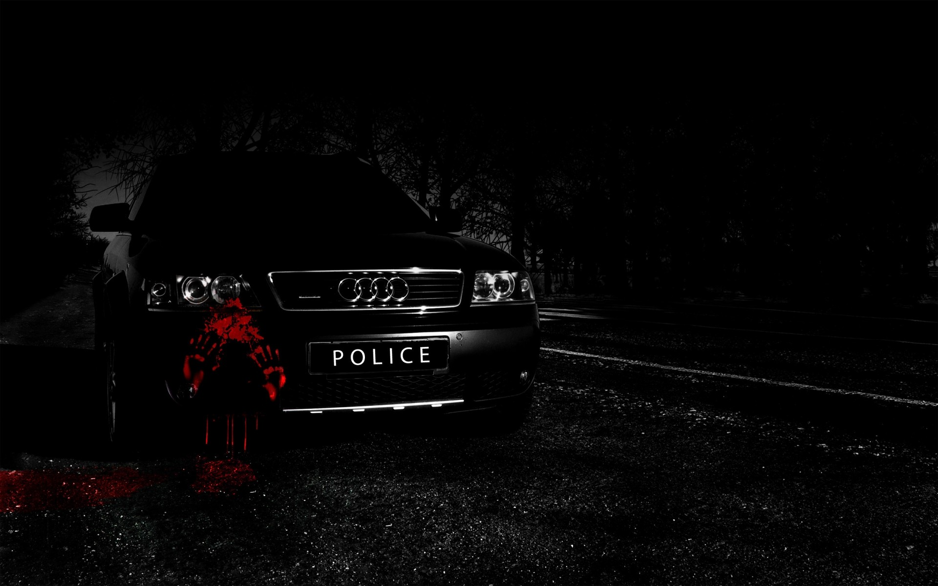 audi a6 police car. android wallpapers for free.