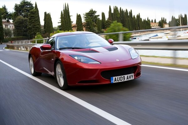 Lotus Evora Red