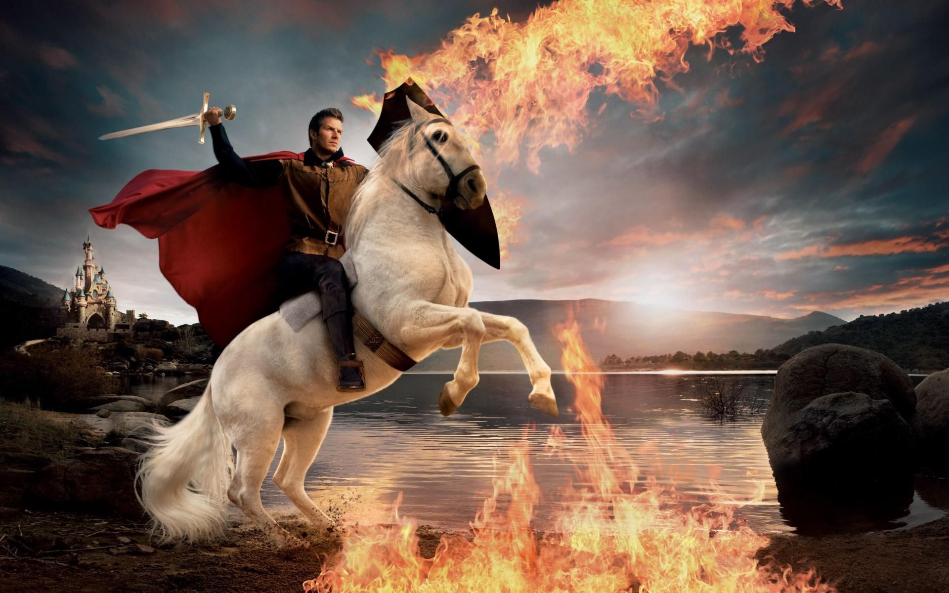 David Beckham Horse Riding Free Wallpapers