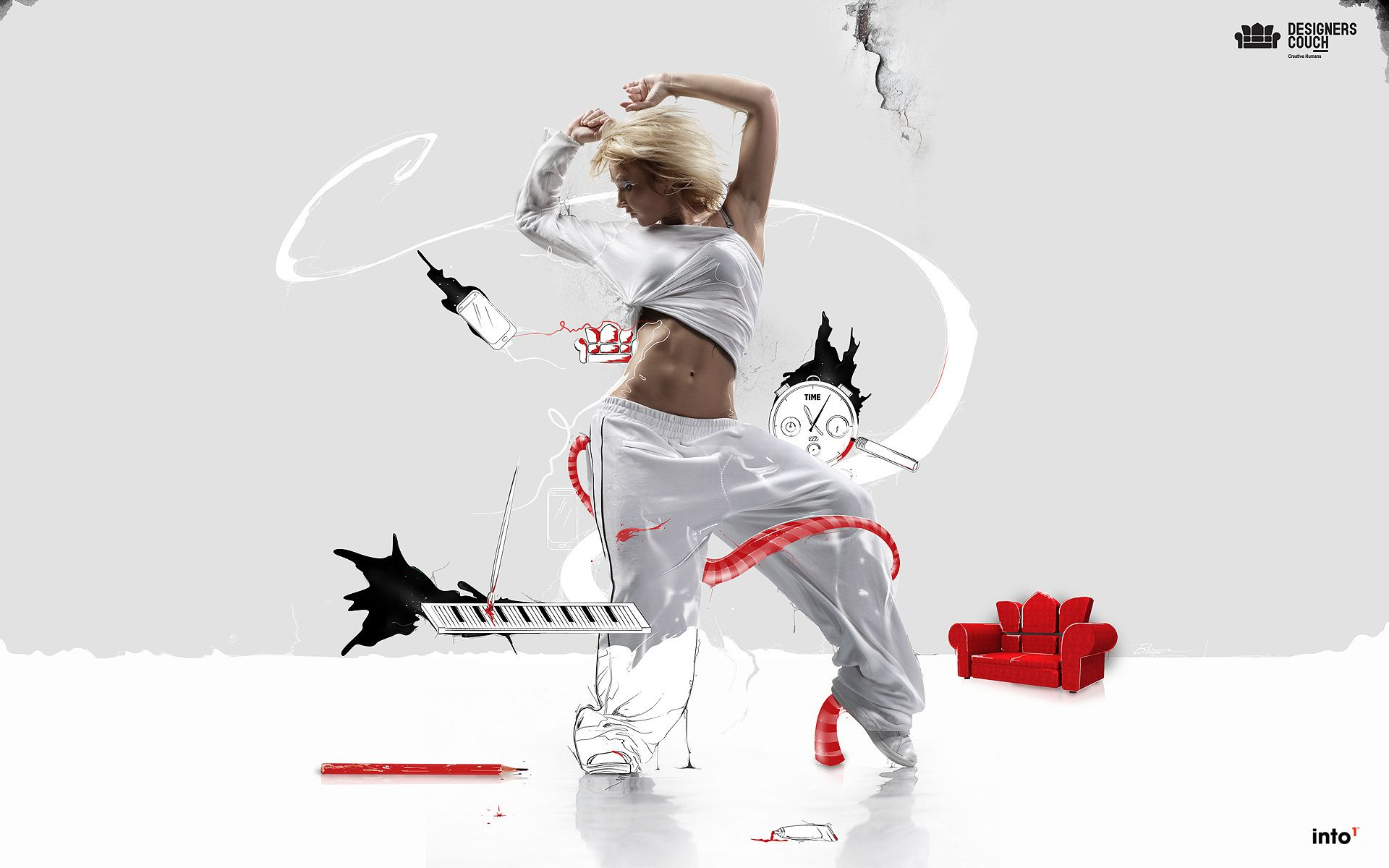 Girl dancing hip hop in an imaginary world android wallpapers for free voltagebd Choice Image