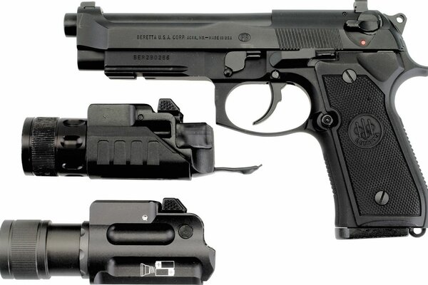 pistol black Beretta beretta sights