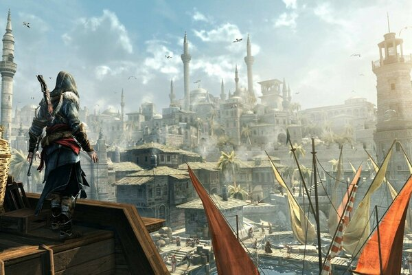 assassins creed city the main character of the radiant sun helmet