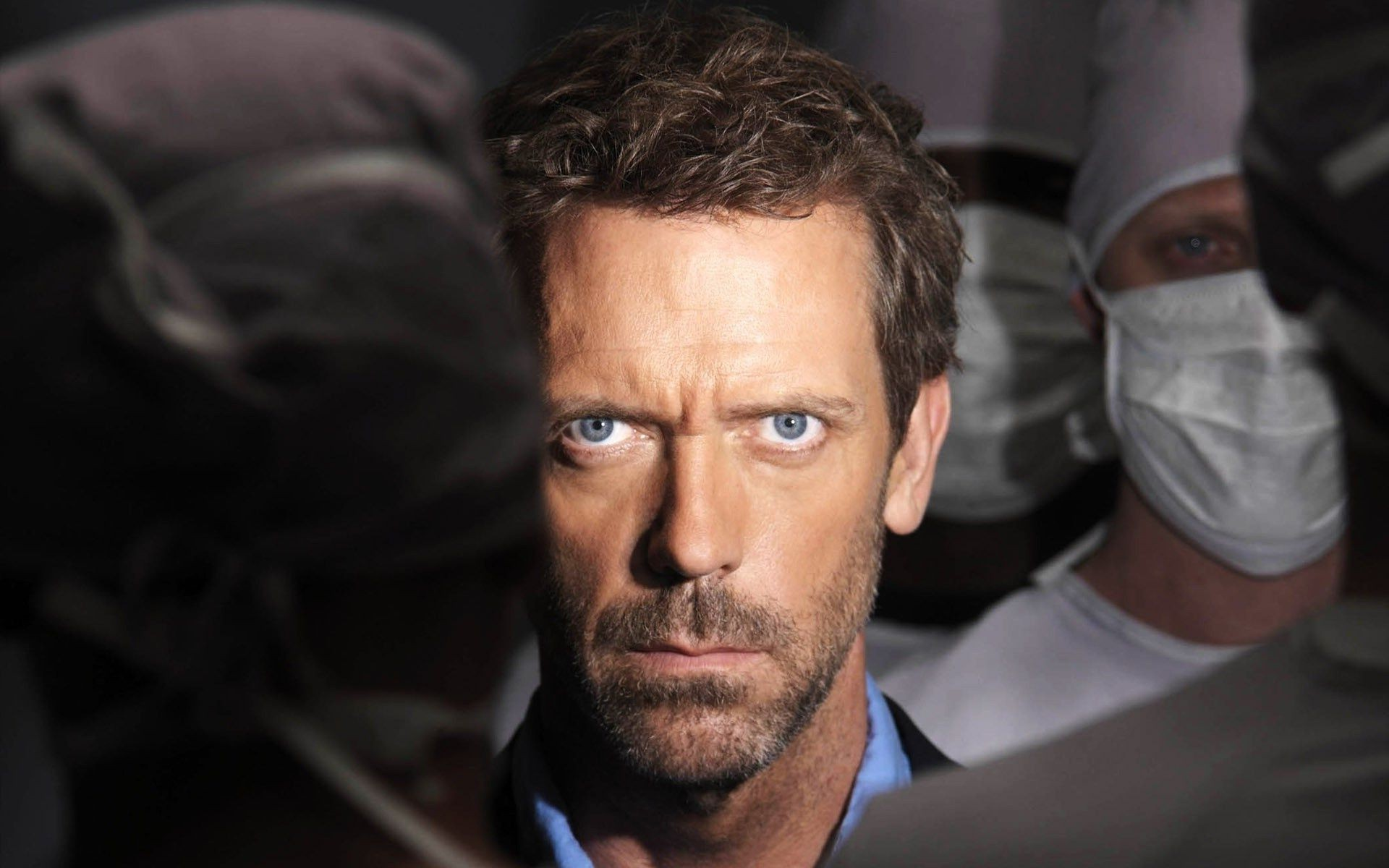 view Dr. house concentration has not shaved man