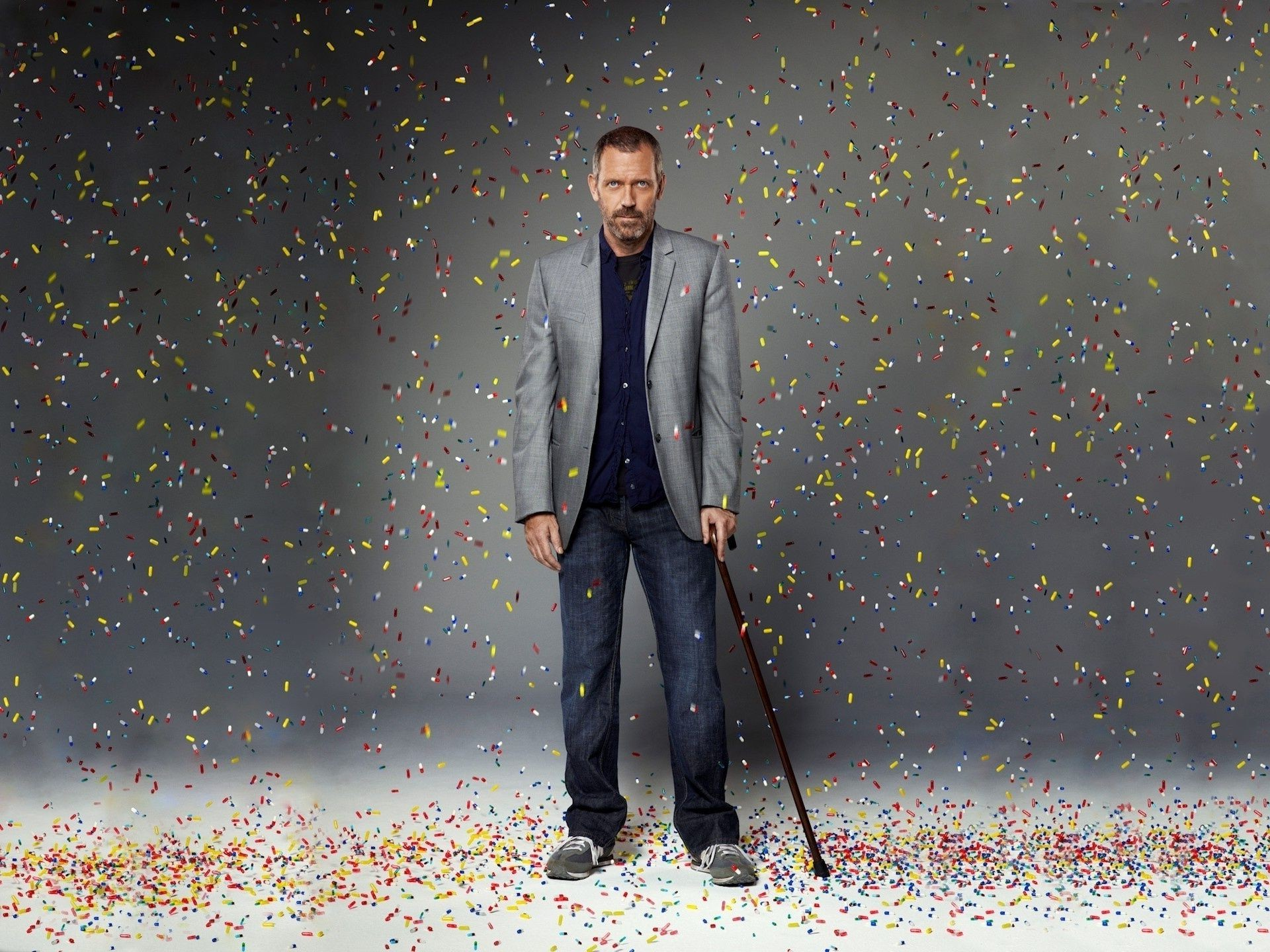 House M D Tablet Rain Hugh Laurie Actor Silver Iphone Wallpapers