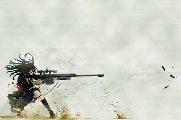 Weapons anime sniper shot