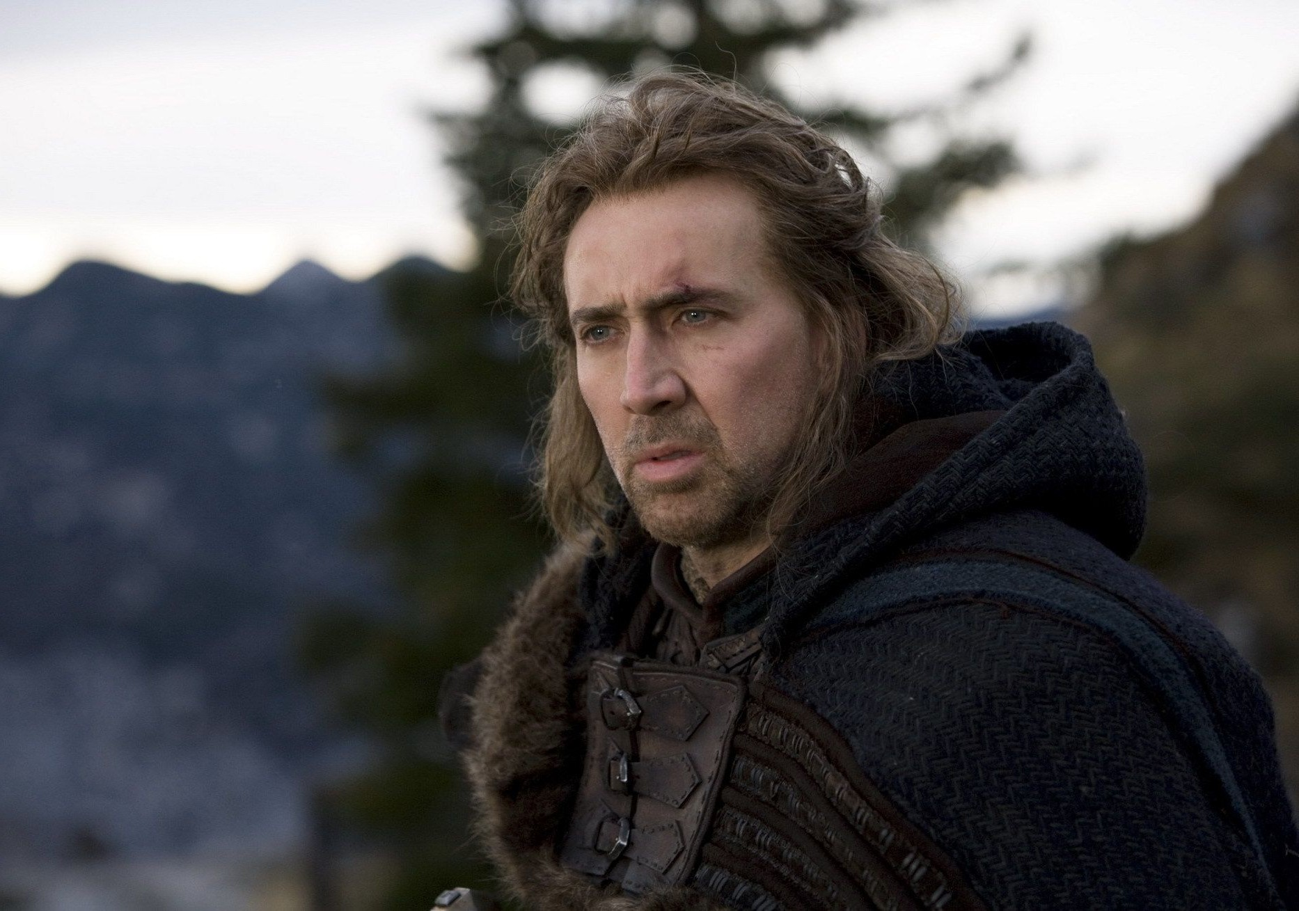 Nicolas cage film season of the witch actor the pensive look