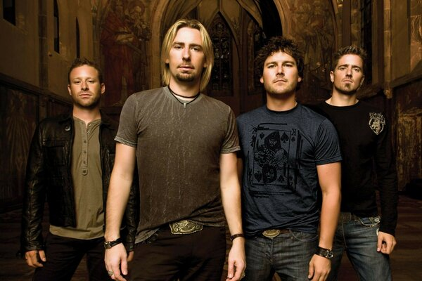 Nickelback Chad Kroeger Mike Kroeger of the rock group boys group