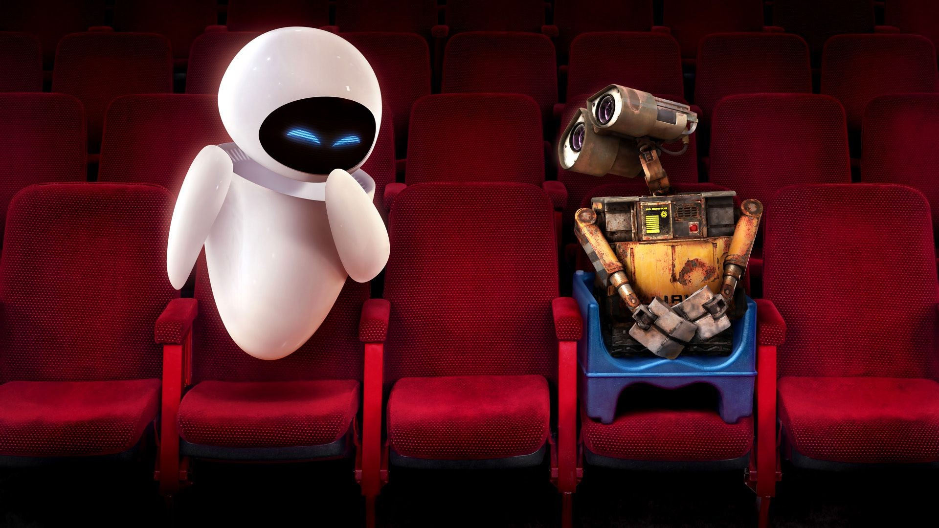 Wall E Eve Cinema Shy Laugh Red Cres Android Wallpapers