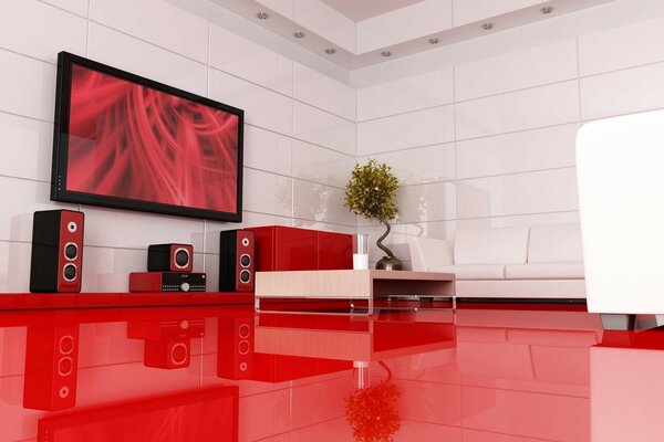 Interior furniture home theater gloss