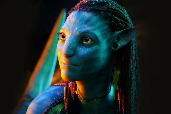 Avatar neytiri navi light on the face attention the character fil