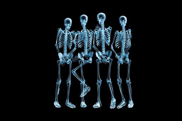 x-ray soccer black background humor creative wall pose
