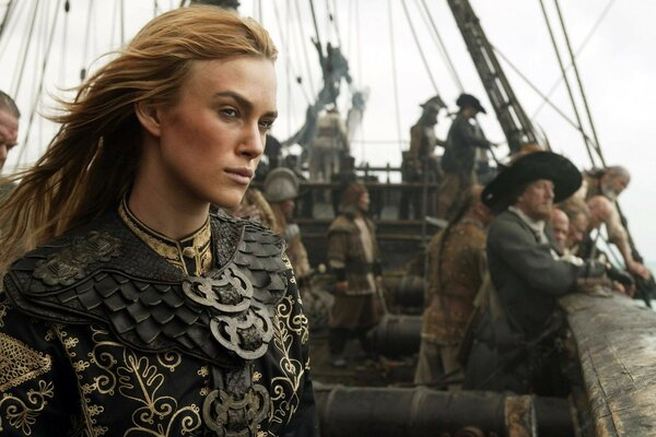 Pirates of the Caribbean keira Knightley Elizabeth Swann ship