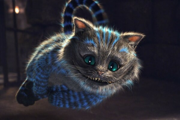 Alice in Wonderland cat smile in the flight strip