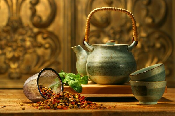 Asian tea kettle mint flavor additives