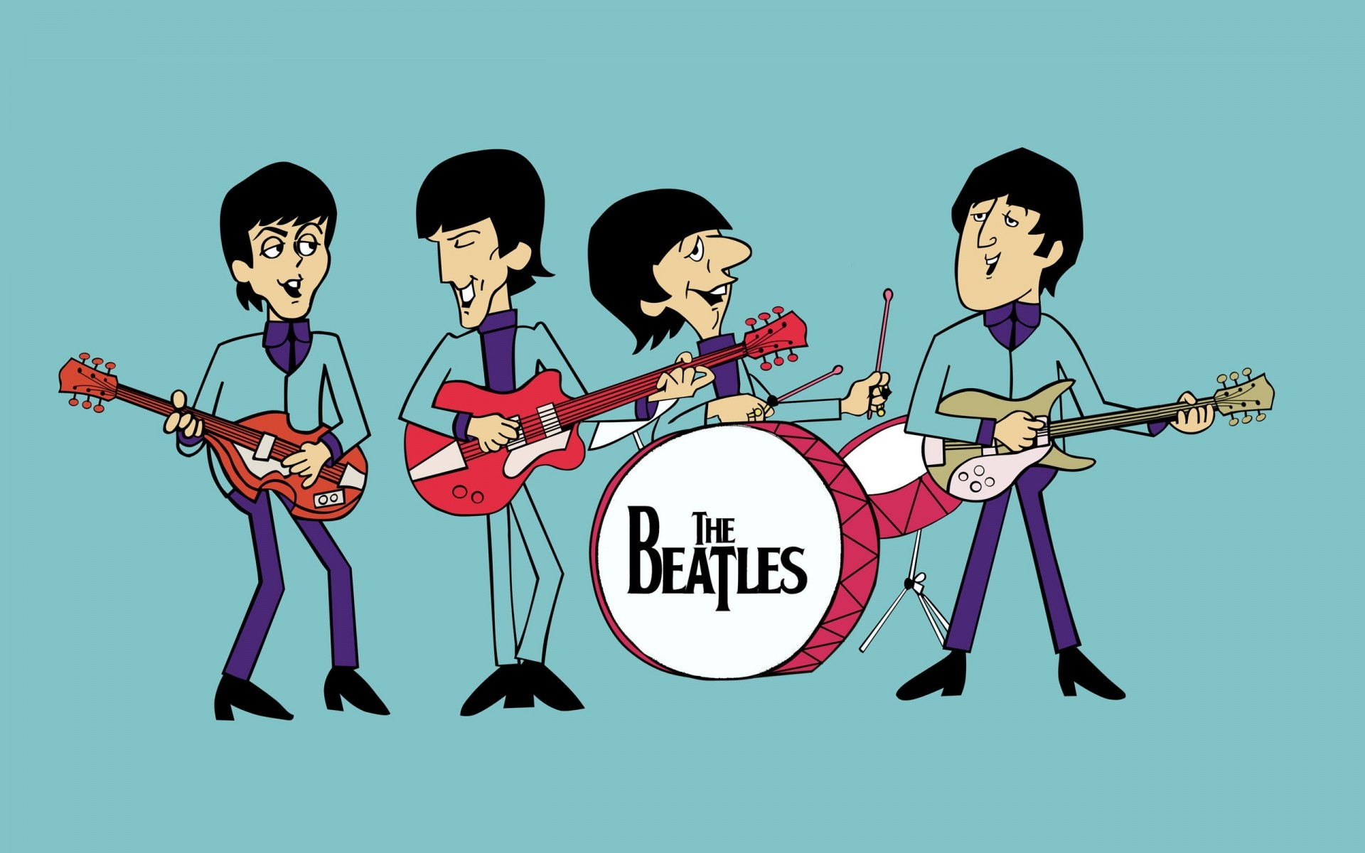 The Beatles Comics IPhone Wallpapers For Free