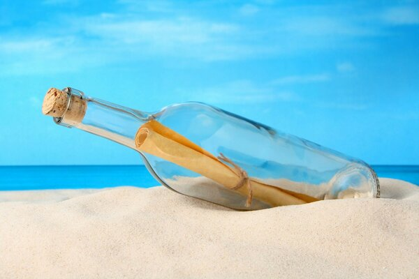 message bottle sea letter