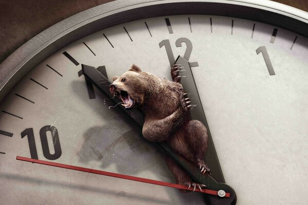 Bear and Clock