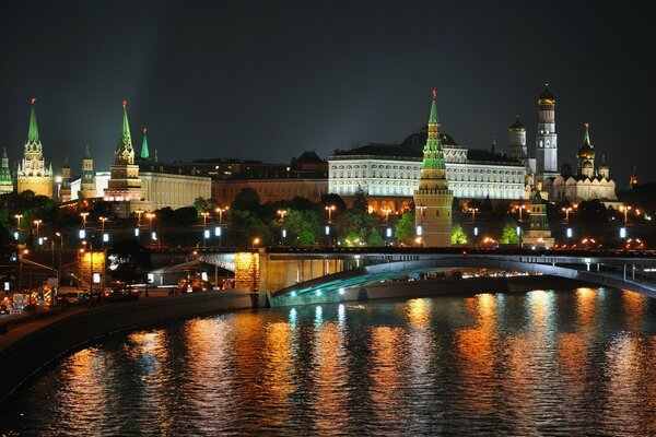 Moscow Night Lights