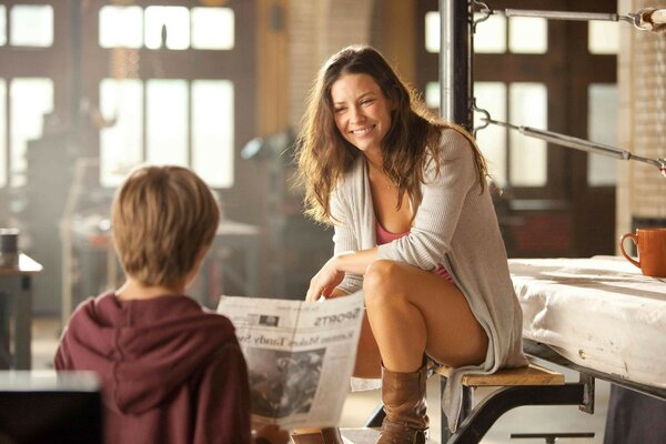 real steel evangeline lilly in the walt disney real stee