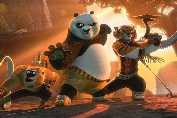 The characters of the wizard from the cartoon Kung fu Panda