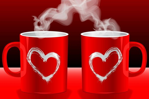 fragrance lovers mug hearts red