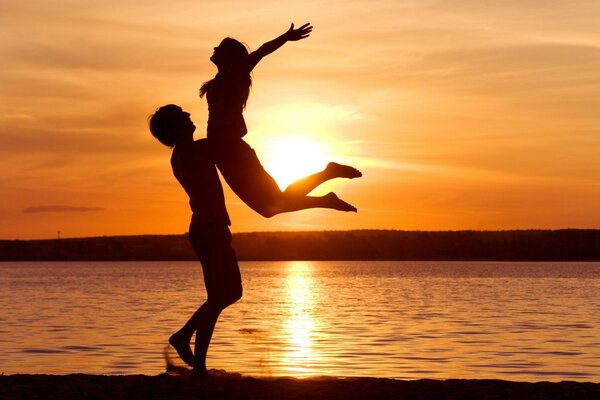 Love the sunset love the feeling of freedom the sea shore of happiness,