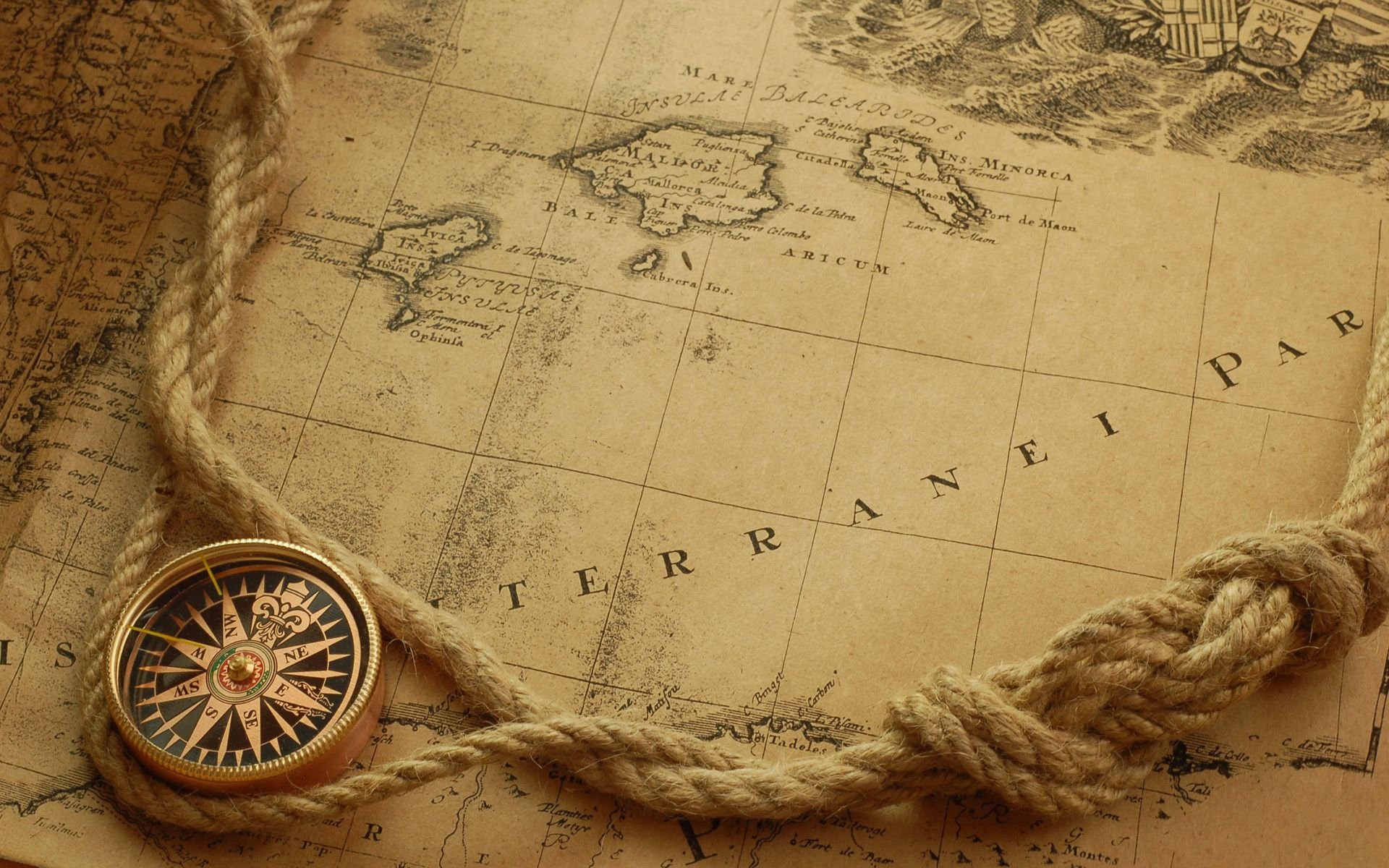 creative compass rope guidance navigation exploration nautical map discovery travel adventure geography longitude paper retro voyage old latitude