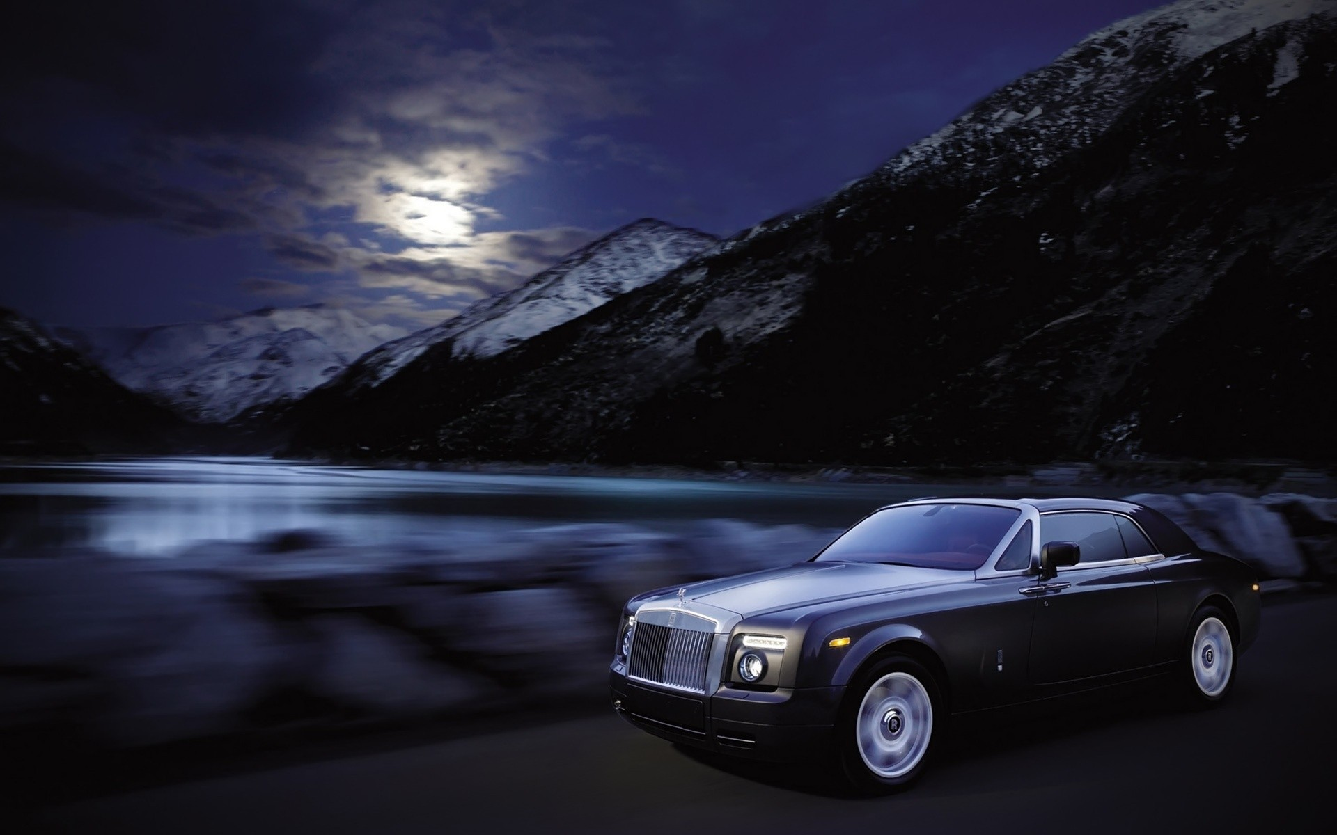 rolls royce car vehicle travel water action hurry