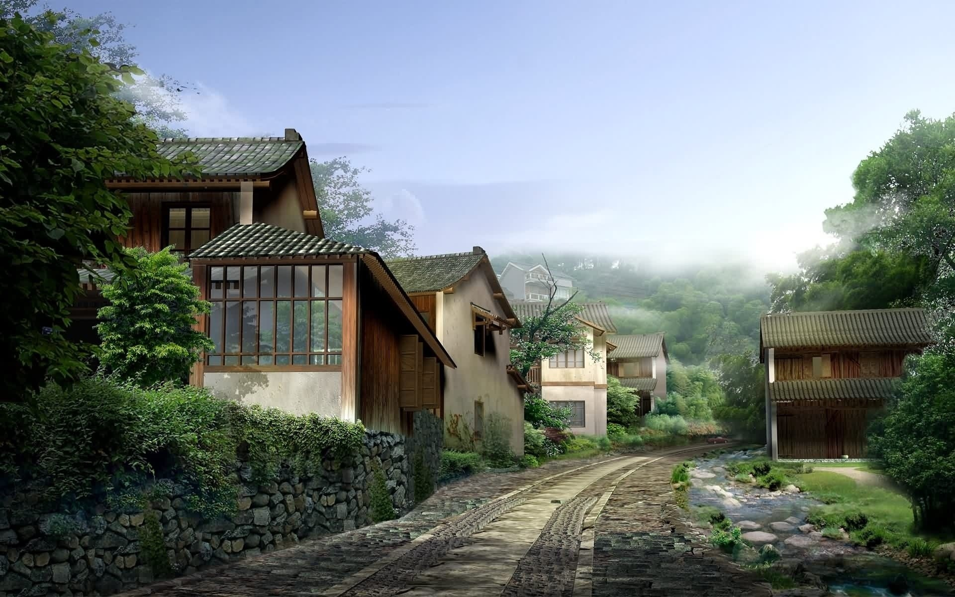 city and architecture house architecture building home wood family tree travel outdoors daylight bungalow roof wooden