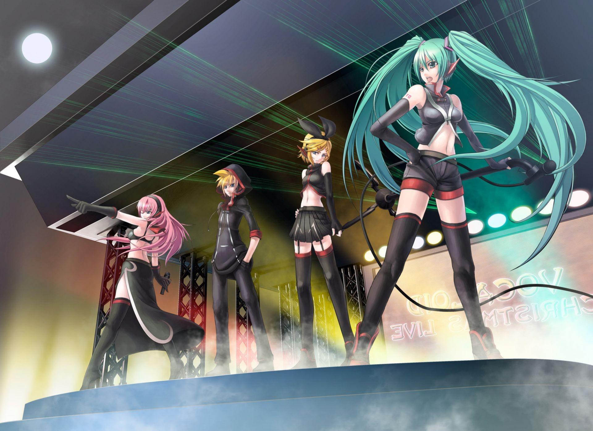 concert music vocaloid miku luka rin len song anime. android