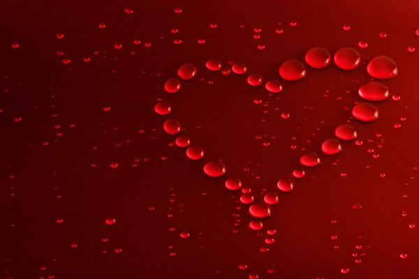 Red Bubbles Heart
