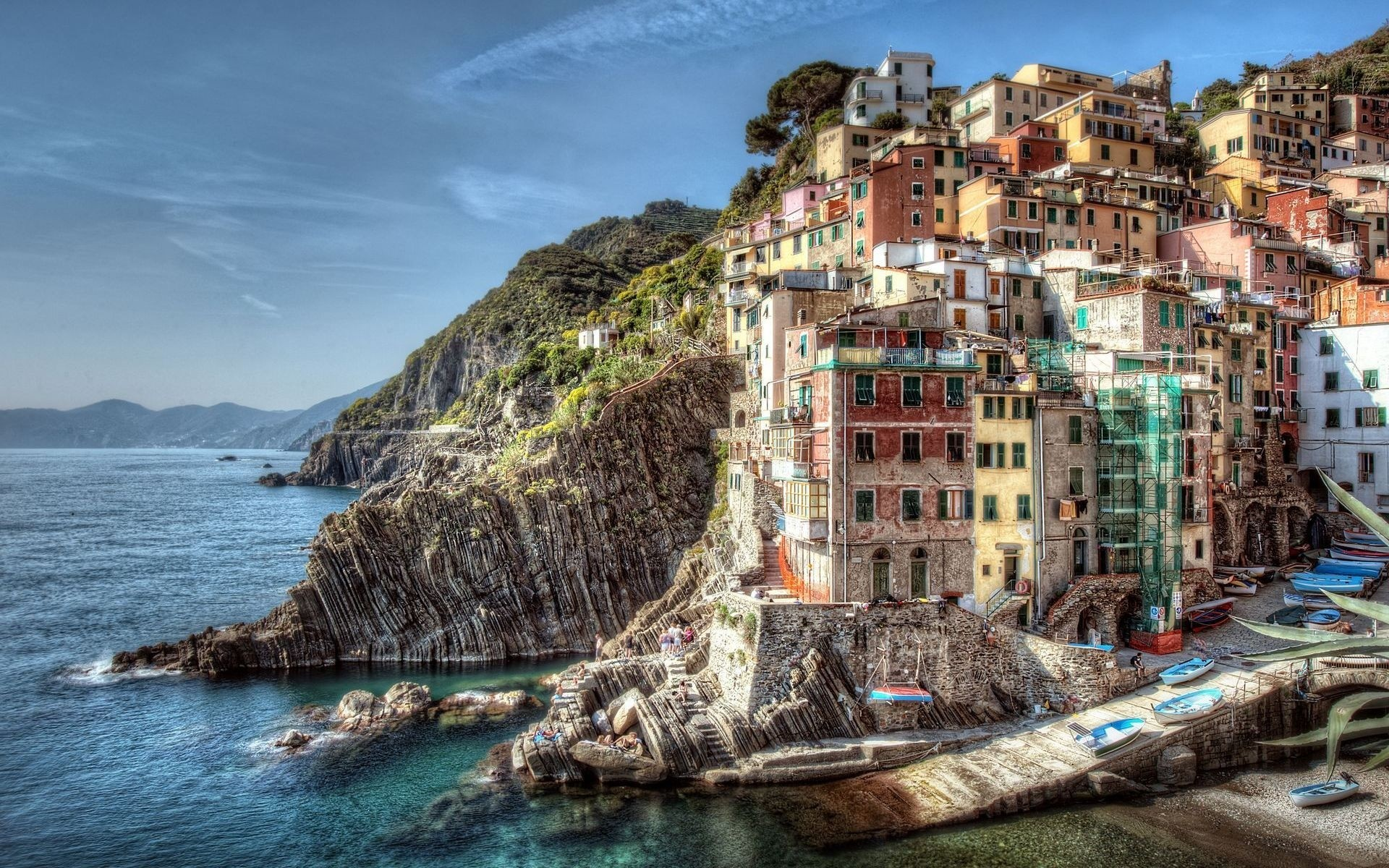 italy sea travel seashore water tourism architecture sky city sight town landscape ocean scenic vacation beach boat building destination house coast rocks
