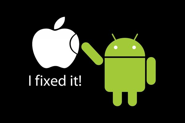 Fixed Apple by Android