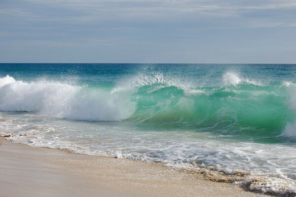 Wave wave sea water sand beach beach sky landscape