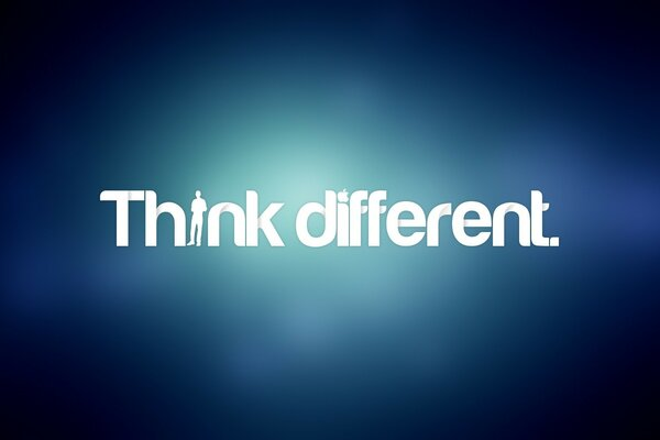 Just Think Different by Apple